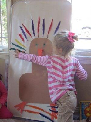 montessori thanksgiving activities sticky turkey