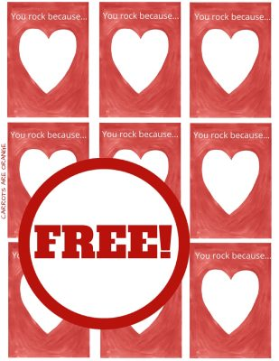 Valentine Printable for Families