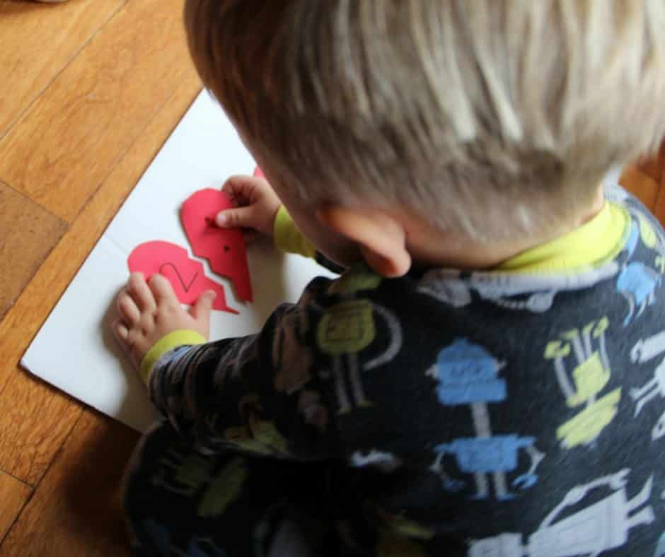 Valentine Nomenclature Cards Heart Math Puzzles