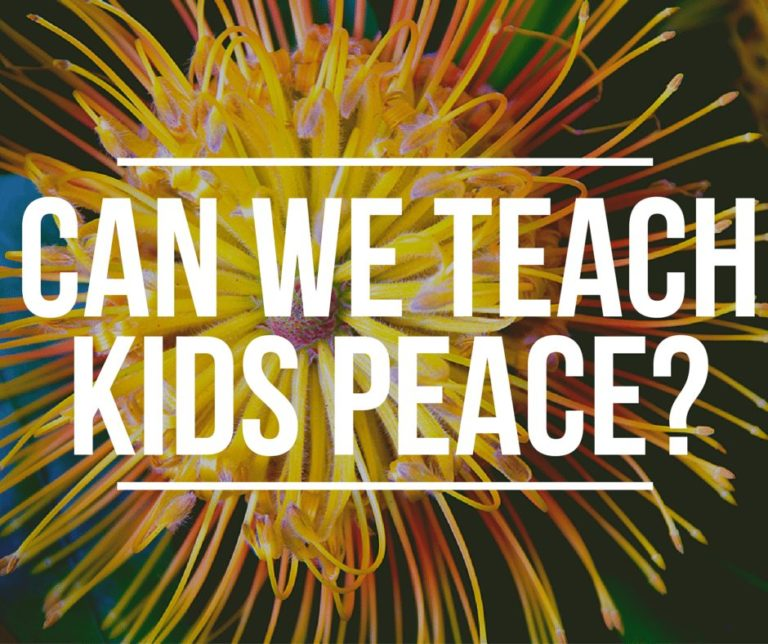 can we teach kids peace?