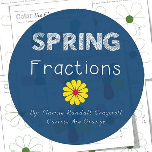 Spring Themed Fractions Activity