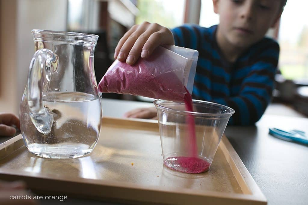 magic sand activity for kids