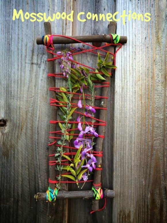 DIY Mother's Day Gifts from Kids by Kids - Nature Weaving