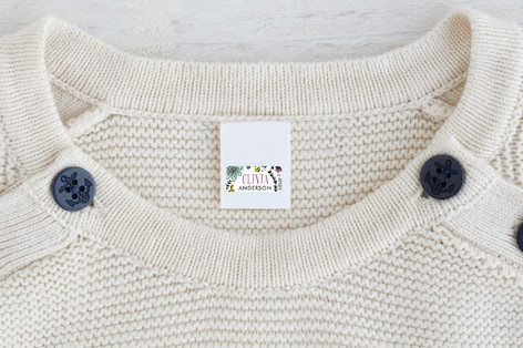 Kids Labels on Clothing