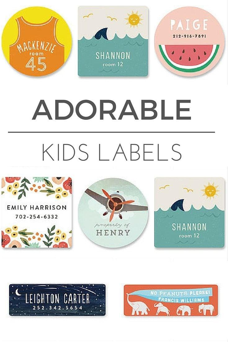 Minted Kids Label Pinterest
