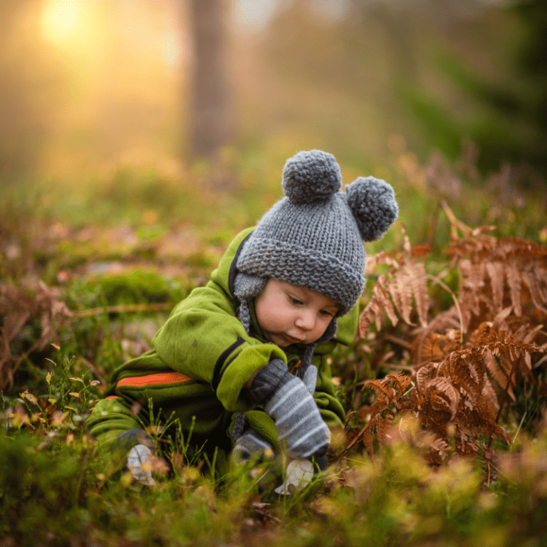 A young boy in the outdoors