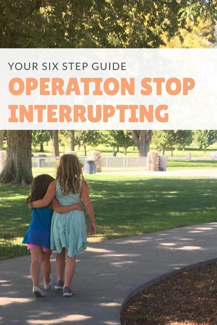 interrupting