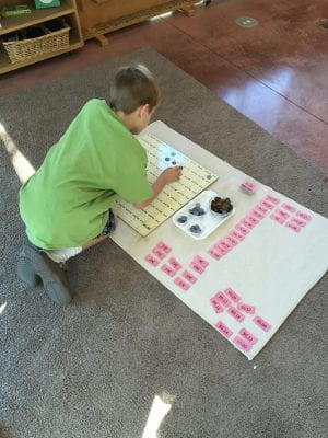 How to teach a child to count money activities in the Montessori primary classroom