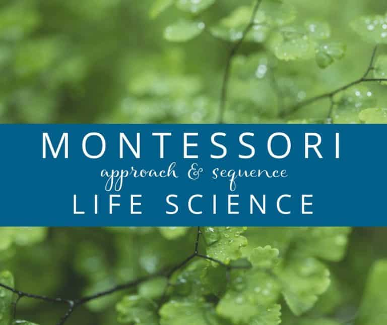 Montessori Life Science Approach Sequence FB