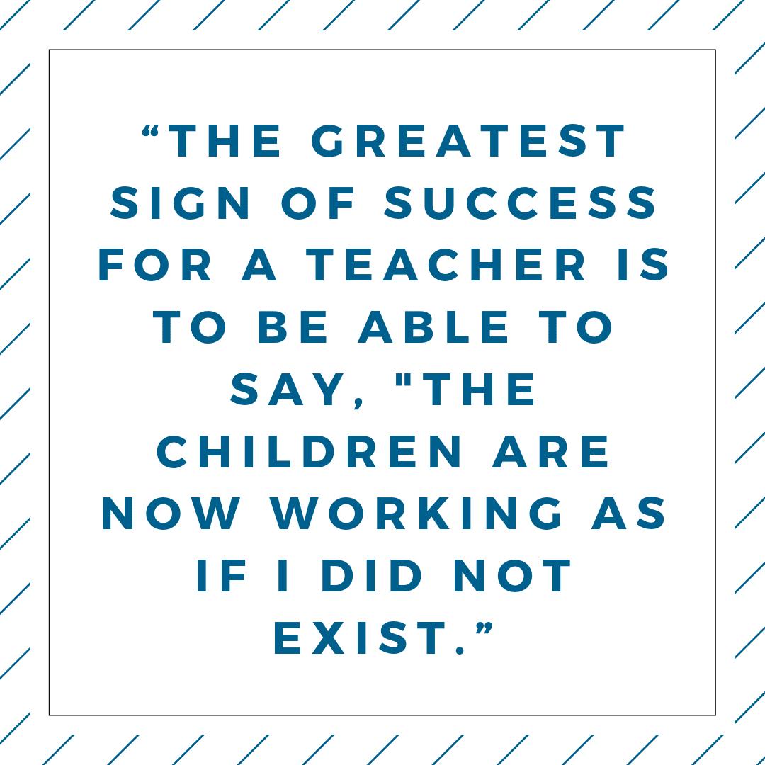 Maria Montessori Quotes about Teaching Children