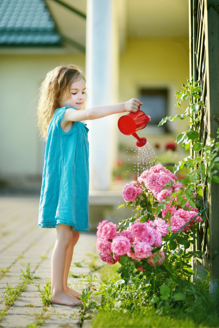 How to Determine the Right Chores by Age Such as a Preschooler Watering Plants
