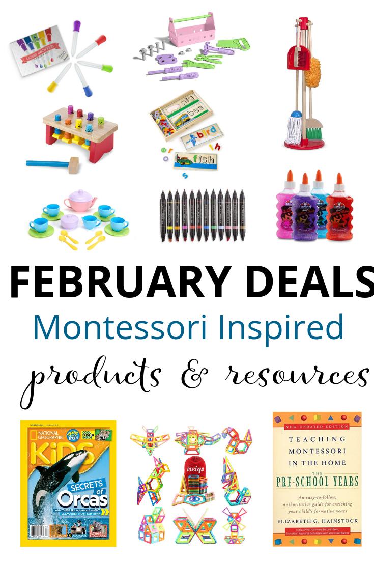 Montessori Deals on Amazon in February 2019