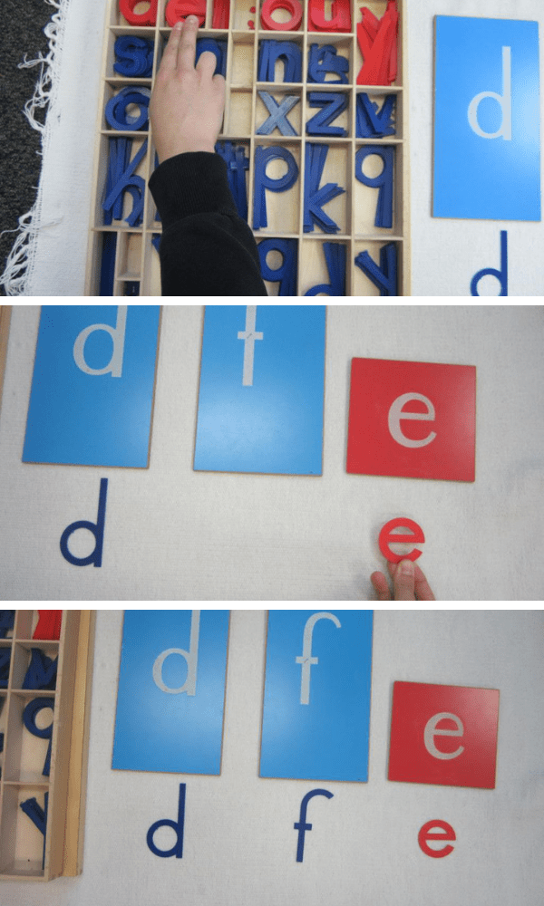 Associating the Moveable Alphabet with Sandpaper Letters