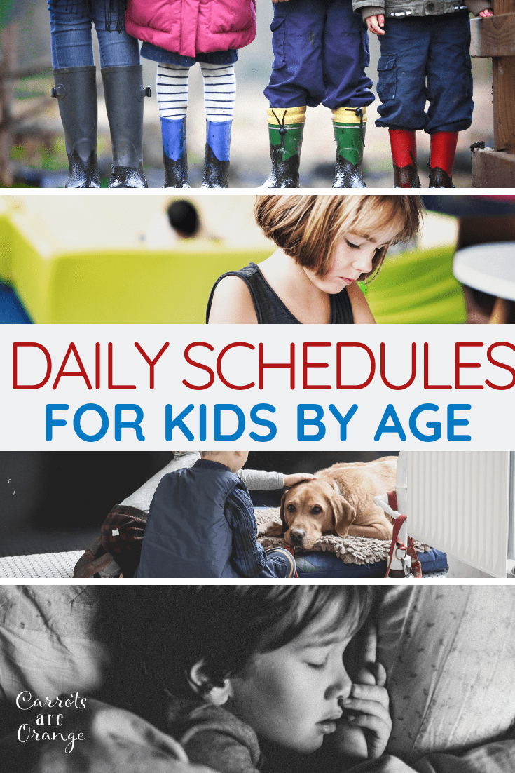 Daily Schedule for Kids by Age
