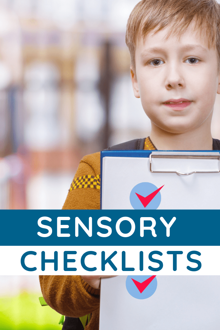 Wondering about Sensory Processing Disorder? Sensory Checklists You Don't Want to Miss!