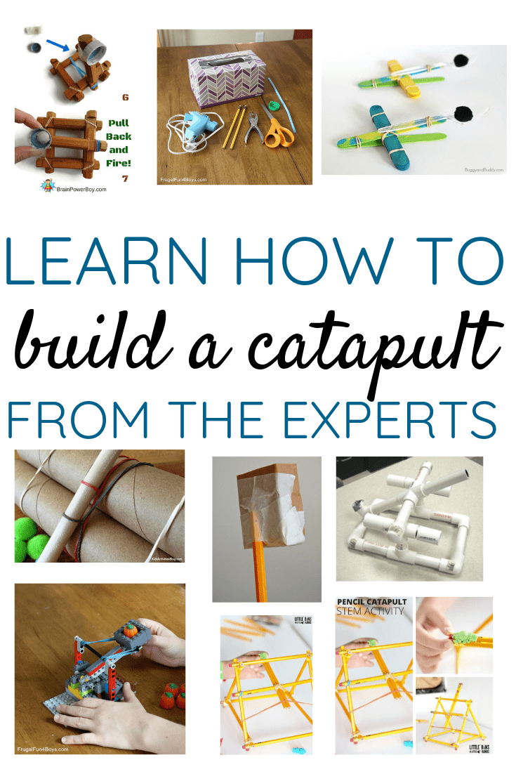 Learn how to build a catapult from the experts using a variety of materials