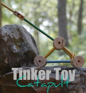 Make a catapult with Tinker Toys