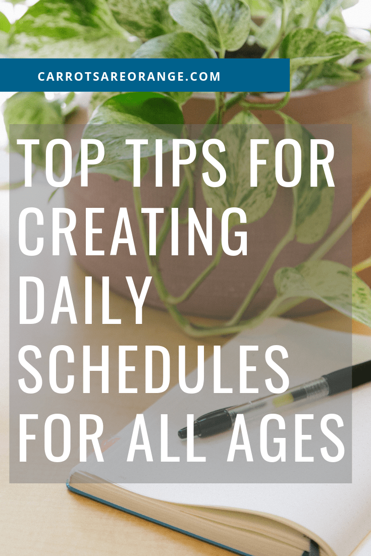 top tips for creating a daily schedule for your family