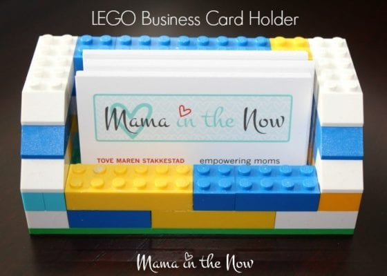 DIY Lego Mother's Day Gifts - Business Card Holder
