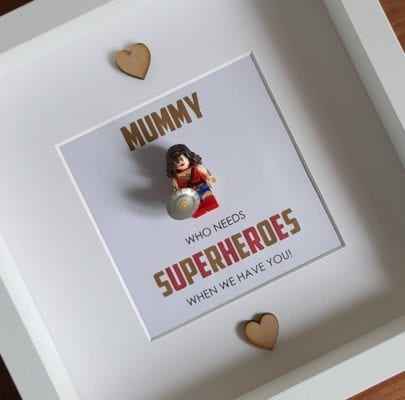 DIY Lego Superhero for Mother's Day