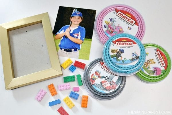 DIY Lego Mayka Tape Frame for Mother's Day