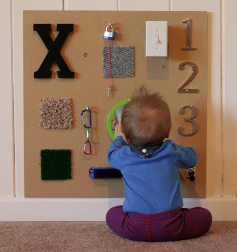 DIY Montessori Toys for Babies - Sensory Wall
