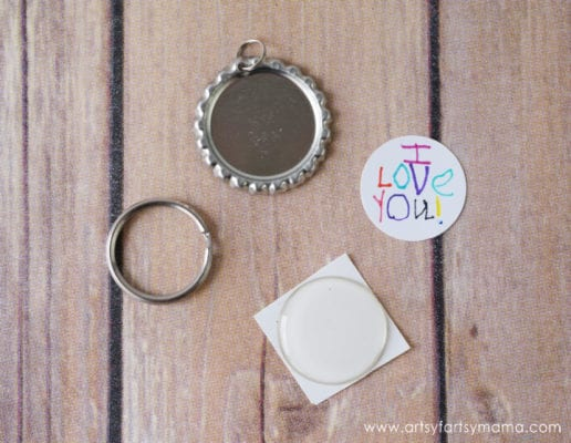 Unique DIY Mother's Day Gifts from Kids - Bottle Cap Keychain