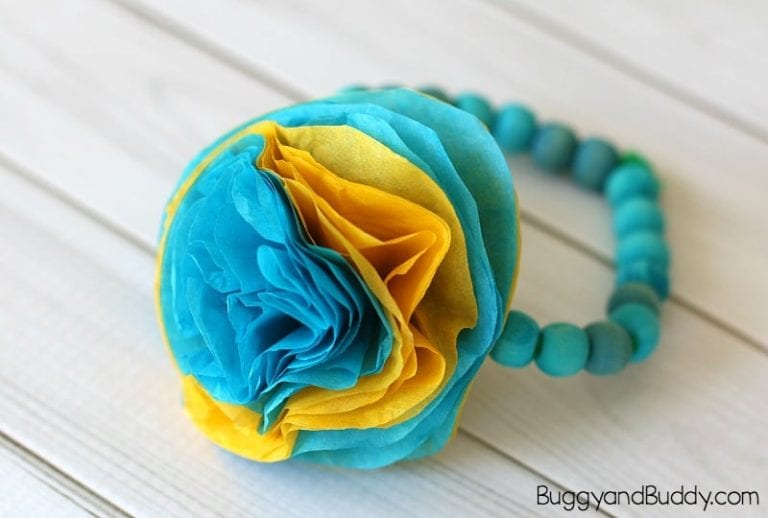 DIY Mothers Day Gofts Flower Bracelet