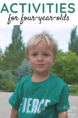 A fierce looking 4 year old boy