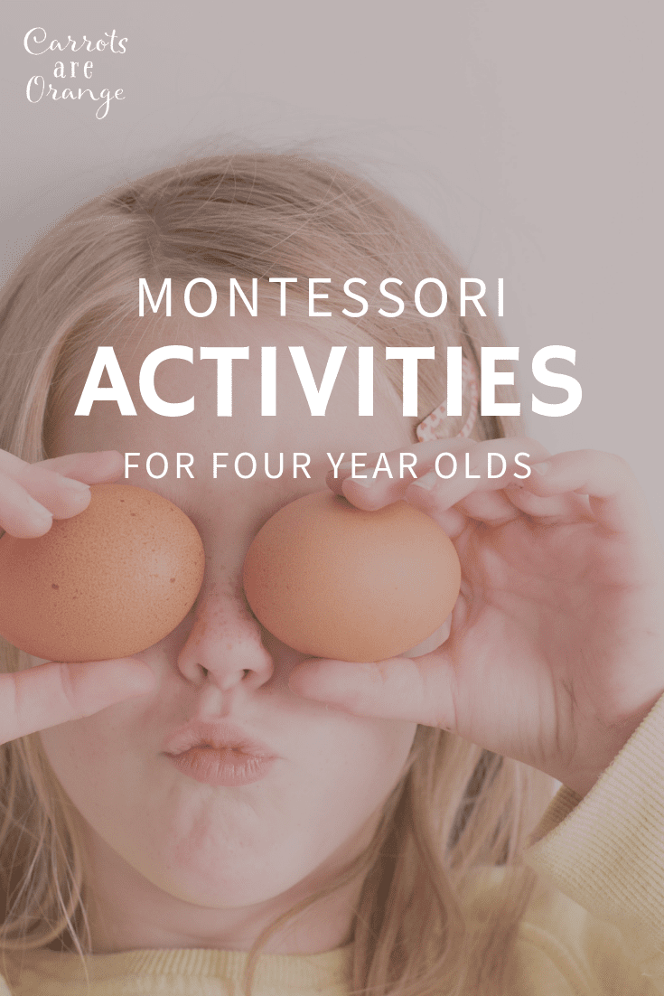 Montessori Activities for Four Year Olds - Learn Easy to Do Activities at Home that Your Kids Will Love
