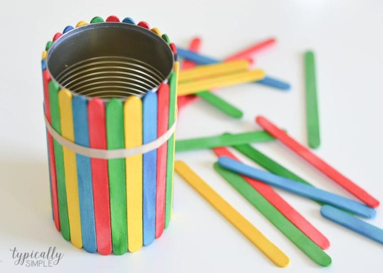Unique DIY Mother's Day Gifts from Kids - Craft Stick Flower Pot