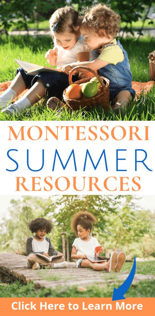 Amazing Montessori Summer Learning Resources