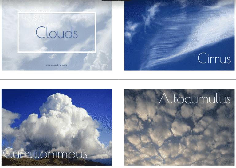 Cloud Activities for Preschoolers