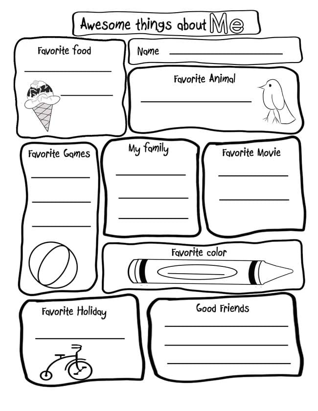 15 Amazing All About Me Activities & Printables