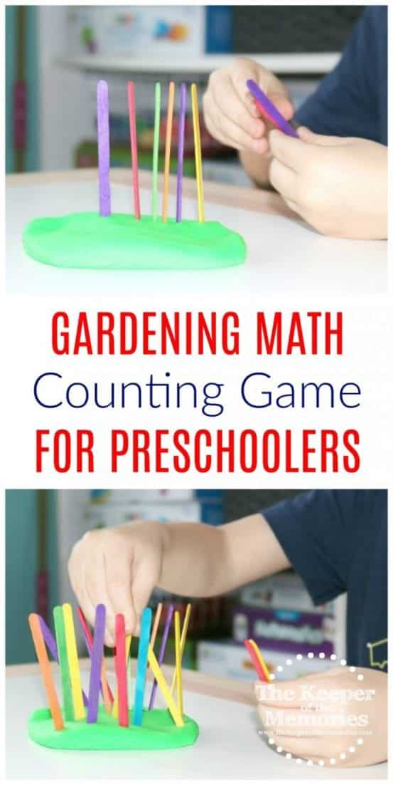picture of garden counting with playdough