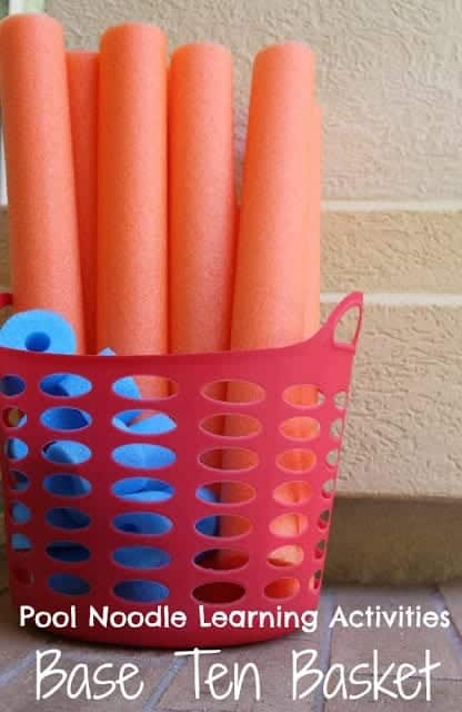 photo of pool noodle base 10 game