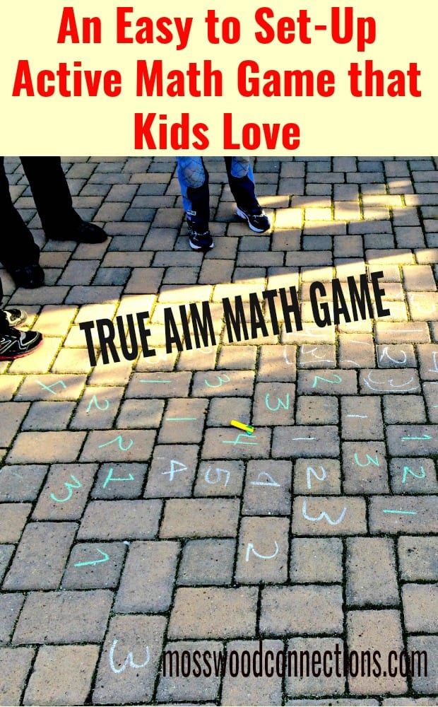 photo of sidewalk math game