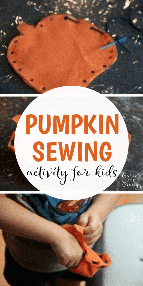 Pumpkin Sewing Activity for Kids