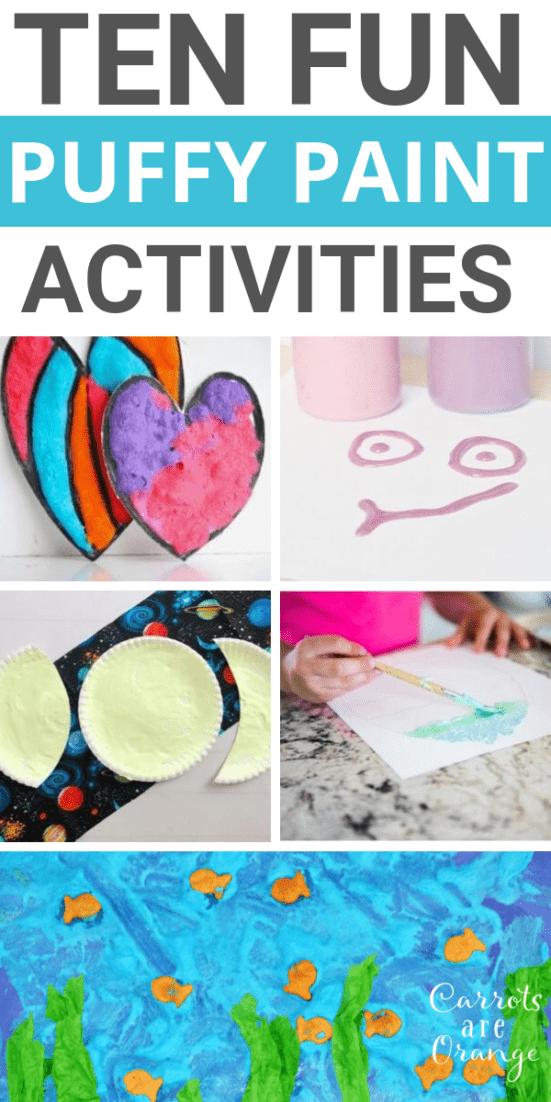 Amazing Puffy Paint Activities