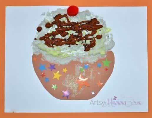 Puffy Paint Craft Ice Cream Sudae