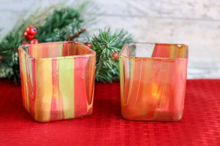 How to make painted votive candles