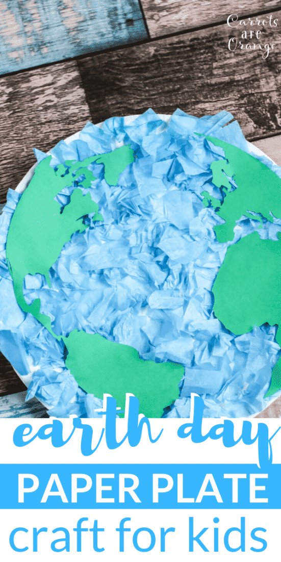 Celebrate Earth Day with this tissue paper plate craft with kids. This activity is easy to put together, works fine motor skills, and invites conversation.