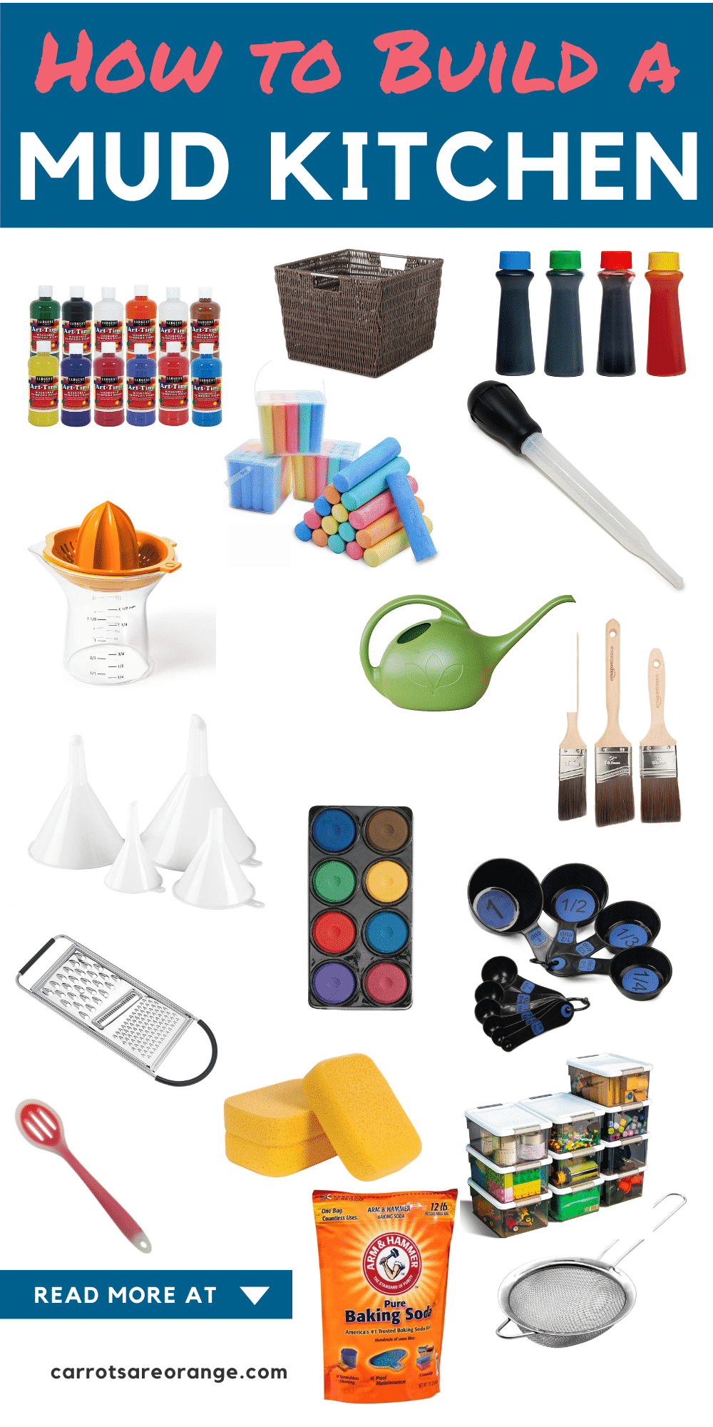 Items for Mud Kitchen