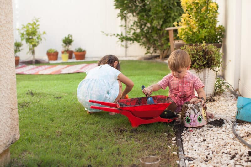 Outdoor Mud Play with Kids